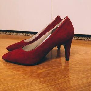 Aerosoles Red Suede Heels